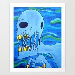 Blue Demon Art Print