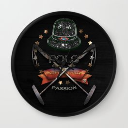 polo black label Wall Clock
