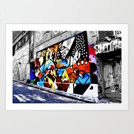 Bold Hosier Lane Art Print