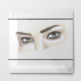 Des yeux juste des yeux Metal Print
