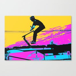 Free Falling - Stunt Scooter Rider Canvas Print