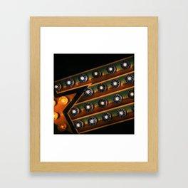 midway lights Framed Art Print