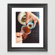 Coffee & Words Framed Art Print