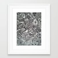 zentangle Framed Art Prints featuring Zentangle by NicoleCorbelle