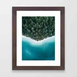 Green and Blue Symmetry - Landscape Photography Framed Art Print