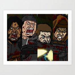 Survivors CU Art Print