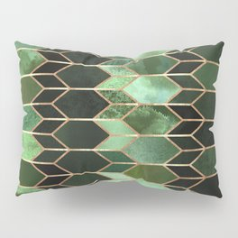 Stained Glass 5 - Forest Green Pillow Sham