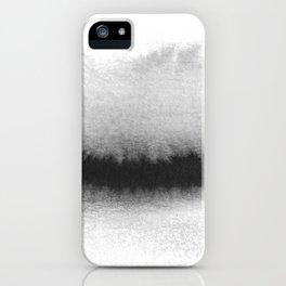 Black and White Horizon iPhone Case