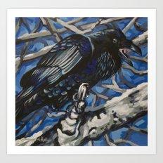 Raven 5 Art Print