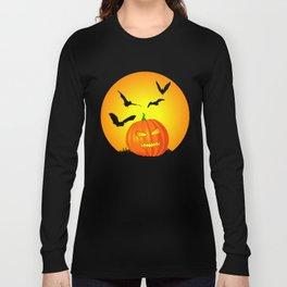 Halloween Moon Jack-O-Lantern Long Sleeve T-shirt