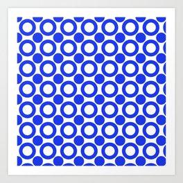 Dot 2 Blue Art Print
