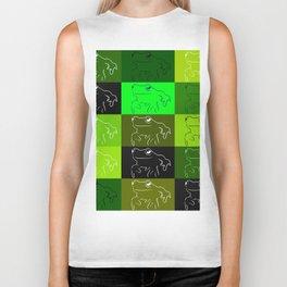 Green tree frog pattern, drawings of frogs, in green, for stickers, frog stickers, Biker Tank
