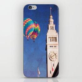 Embarcadero Clock Tower and Hot air Balloons iPhone Skin