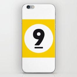 9 ball yellow iPhone Skin