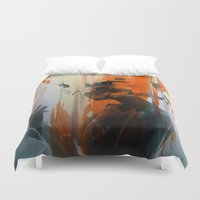 glitch Duvet Covers featuring glitch by HAW Design Studio
