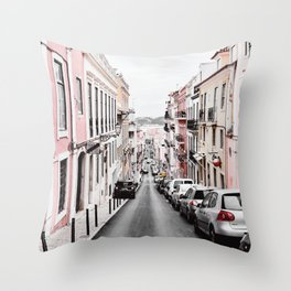 Pastel Building 02 Throw Pillow