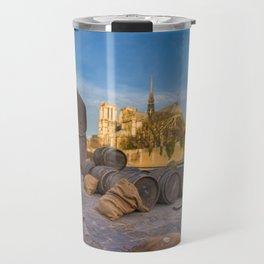 Docks of Notre dame de Paris Travel Mug