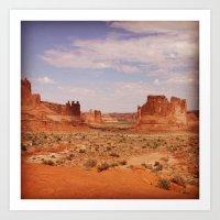 Arches National Park Backdrop Art Print