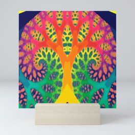 A Tree Dreaming In Color Mini Art Print