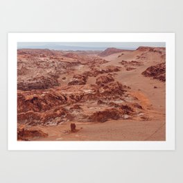 Valle de la Luna, Chile Art Print