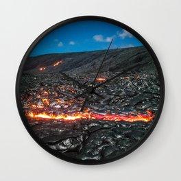 Lava field Wall Clock