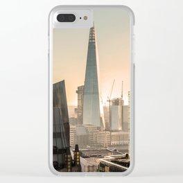 Orange The Shard London ArtWork Clear iPhone Case
