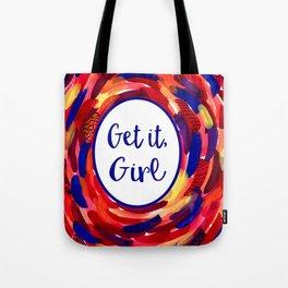 Feminist Art: Get it, Girl, Abstract, Girl Power, Feminism Tote Bag