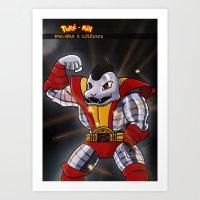 Poke-Men: Machossus Art Print