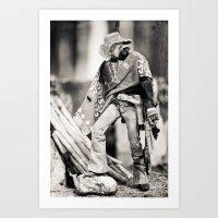 The Blind Cowboy • 8 Art Print