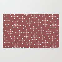 eames Area & Throw Rugs featuring Eames Era Dots 20 by Makanahele