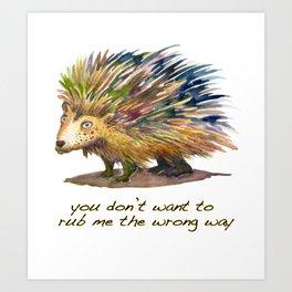 Pete the Porcupine Art Print