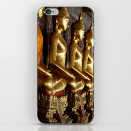 Golden Buddhas iPhone Skin