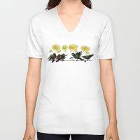 politics V-neck T-shirts featuring Bird Politics by Aimee Cozza