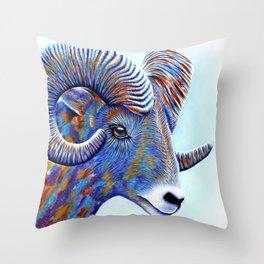 Big Horned Sheep Throw Pillow