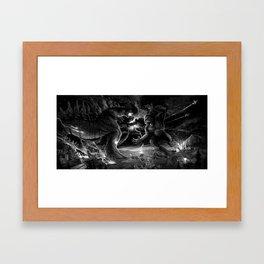 Godzilla vs Kingkong Framed Art Print