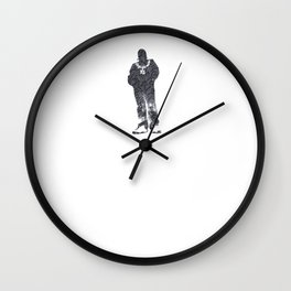 Igh Kihl Media Standing Man Garden Design Logo Wall Clock
