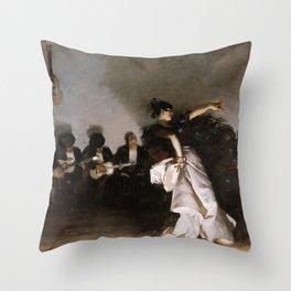 John Singer Sargent - El Jaleo Throw Pillow