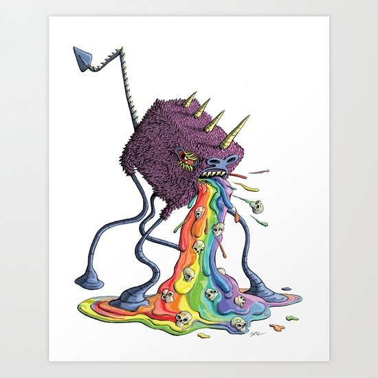 Barf the Rainbow Art Print