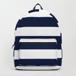 Cetacean blue - solid color - white stripes pattern Backpack