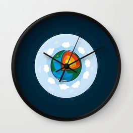 Earth Cake Wall Clock
