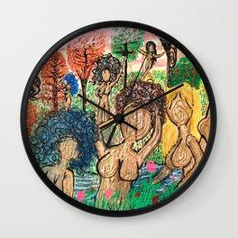 Lady Swirls and Curls Wall Clock