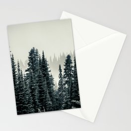 Evergreens at Mount Rainier National Park Stationery Cards