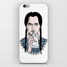 Stay creepy - Wednesday Addams illustration iPhone Skin