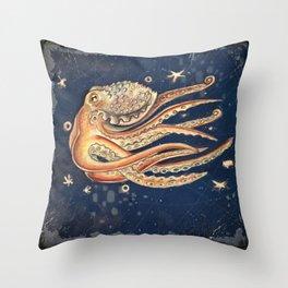 SpacePolpo Throw Pillow