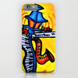 Bourbon St. Music post iPhone Case