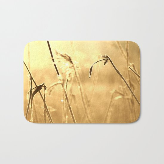 Foggy Morning With Golden Tones  Bath Mat