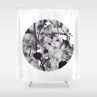 noir Shower Curtains featuring Noir by deniz ayaz