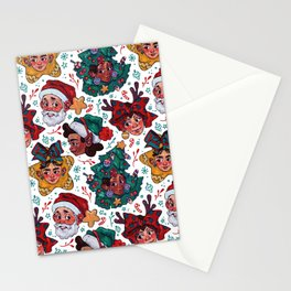 Snowy Christmas Pattern! Stationery Cards