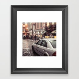 Taxi Framed Art Print