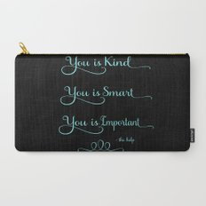 You is Kind - black and blue Carry-All Pouch